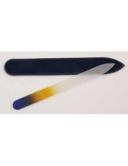 Pilnik szklany dwustronny kolorowy - niebiesko-pomarańczowy