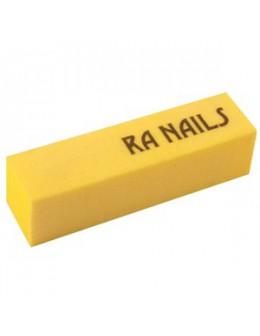 Blok polerski RaNails Block Buffer - żółty
