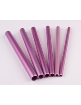 Rurki EF Artificial Nail Tool 6szt. - różowe