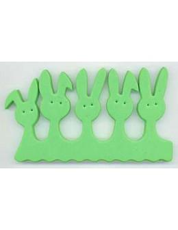 Separatory króliczki (para) - zielone