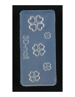 Foremki silikonowe EF 3D Nail Art Mold - kwiatki (si-002)