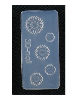 Foremki silikonowe EF 3D Nail Art Mold - kwiatki (si-003)