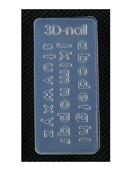 Foremki silikonowe EF 3D Nail Art Mold - literki (si-023)