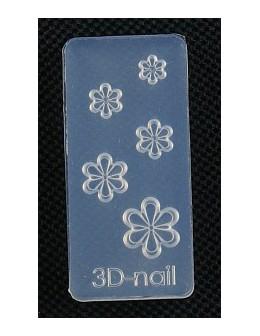 Foremki silikonowe EF 3D Nail Art Mold - kwiatki (si-026)