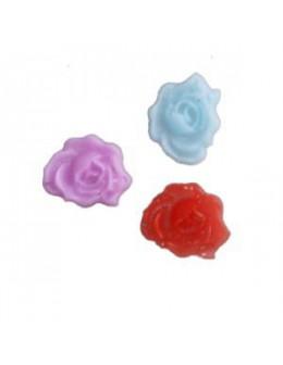 Ozdoby plastikowe 3D - 10szt. - róże