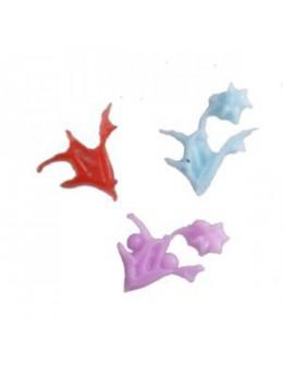 Ozdoby plastikowe 3D - 10szt. - kwiatki