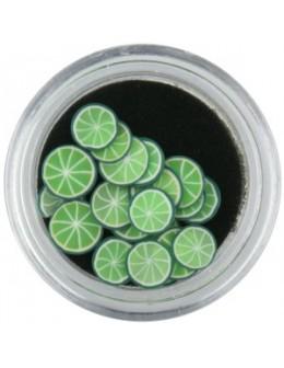 Ozdoby gumowe (FIMO) 20szt - limonki