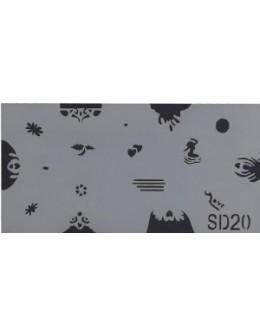 Szablon do pistoletu Airbrush Stencil SD20