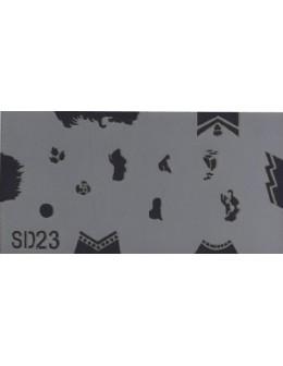 Szablon do pistoletu Airbrush Stencil SD23