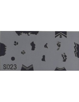 Szablon do pistoletu Airbrush Stencil SD23