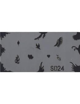 Szablon do pistoletu Airbrush Stencil SD24