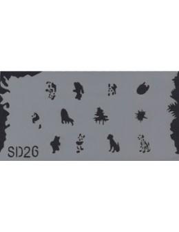 Szablon do pistoletu Airbrush Stencil SD26