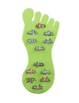 Pierścionki na stopy Toe Rings - zestaw 12szt.