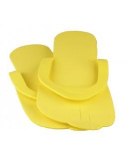 Laczki do pedicure z gąbki - żółte