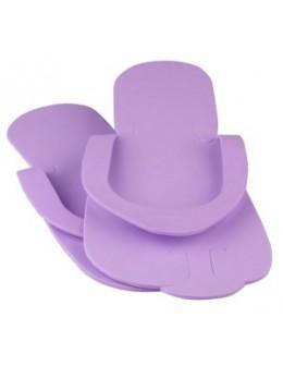Laczki do pedicure z gąbki - fioletowe