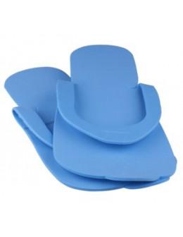 Laczki do pedicure z gąbki - niebieskie