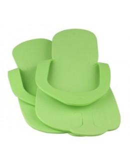 Laczki do pedicure z gąbki - zielone