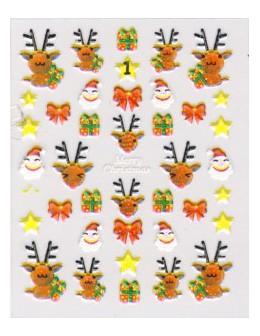 Naklejki świąteczne 3D Nail Stickers CM-1