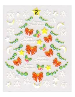 Naklejki świąteczne 3D Nail Stickers CM-2