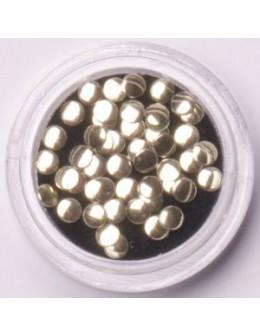 Metalowe cekiny - ciemno srebrne - 70szt