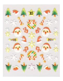 Naklejki świąteczne 3D Nail Stickers CM-10