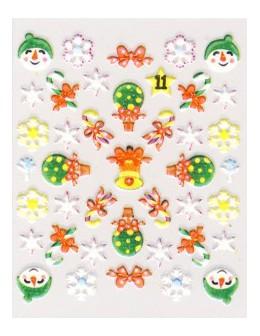 Naklejki świąteczne 3D Nail Stickers CM-11