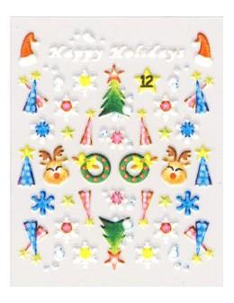 Naklejki świąteczne 3D Nail Stickers CM-12