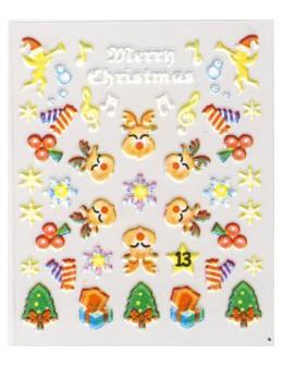 Naklejki świąteczne 3D Nail Stickers CM-13