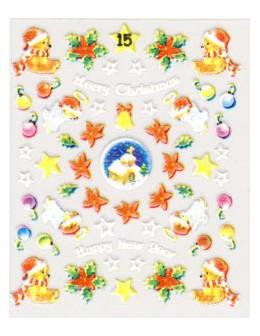 Naklejki świąteczne 3D Nail Stickers CM-15