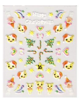 Naklejki świąteczne 3D Nail Stickers CM-16