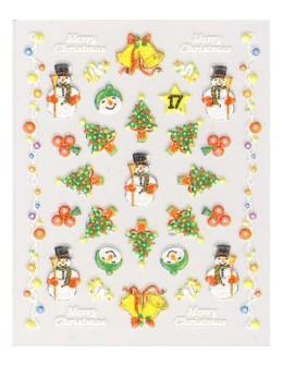 Naklejki świąteczne 3D Nail Stickers CM-17