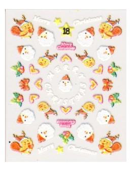 Naklejki świąteczne 3D Nail Stickers CM-18