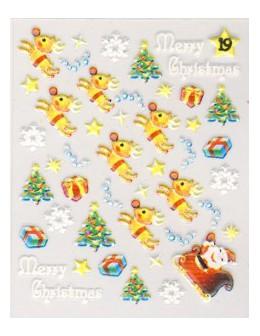 Naklejki świąteczne 3D Nail Stickers CM-19