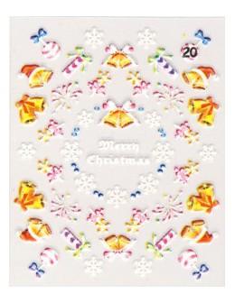 Naklejki świąteczne 3D Nail Stickers CM-20