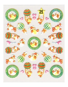 Naklejki świąteczne 3D Nail Stickers CM-21