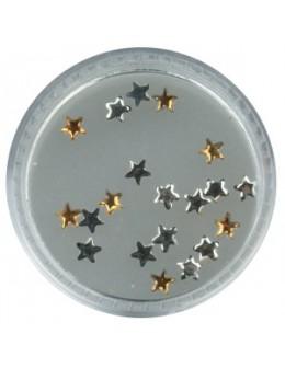 Gwiazdki szklane 20szt. - brązowe