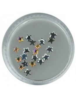 Gwiazdki szklane 20szt. - brązowe opalizujące