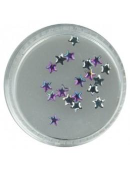 Gwiazdki szklane 20szt. - fioletowe opalizujące