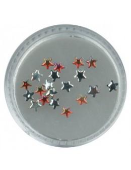 Gwiazdki szklane 20szt. - czerwone opalizujące