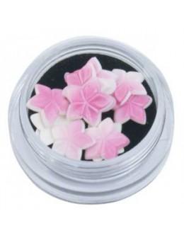 Ozdoby akrylowe 3D 10szt/op - kwiatki