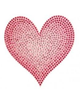 Naklejki z cyrkoniami Rhinestones Stickers - różowe serce