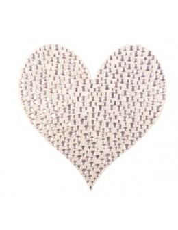Naklejki z cyrkoniami Rhinestones Stickers - srebrne serce