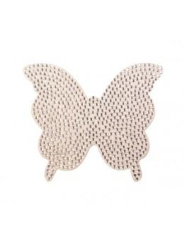 Naklejki z cyrkoniami Rhinestones Stickers - srebrny motyl