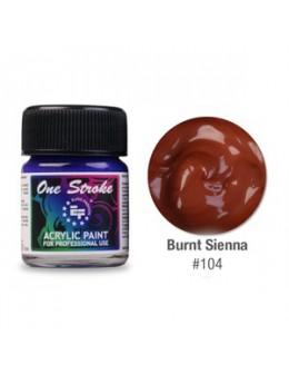 Farbka akrylowa do zdobienia paznokci 15ml - Burnt Sienna