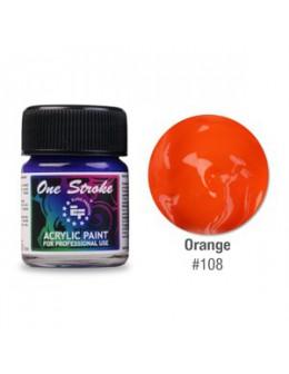 Farbka akrylowa do zdobienia paznokci 15ml - Orange