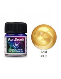 Farbka akrylowa do zdobienia paznokci 15ml - Gold